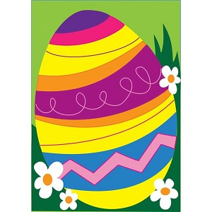 Easter Egg House Flag