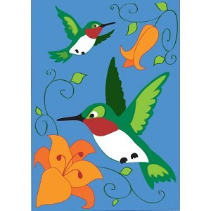 Hummingbirds in Flight House Flag