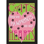 Cats Leave Footprints On Our Hearts Garden Flag