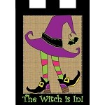 Burlap Witch House Flag
