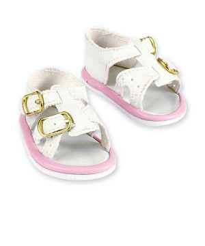 Pink and White Sandals